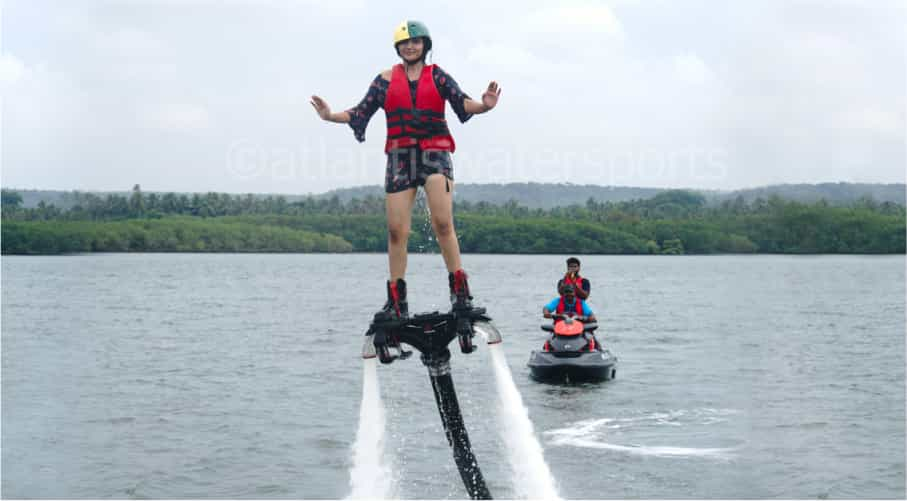 FlyBoarding on Chapora River